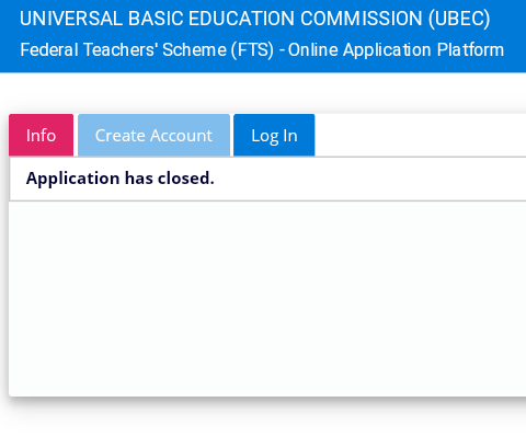 UBEC Federal Teachers Scheme Recruitment 2020 Portal Has been Closed For Registeration https://fts.admissions.cloud/home