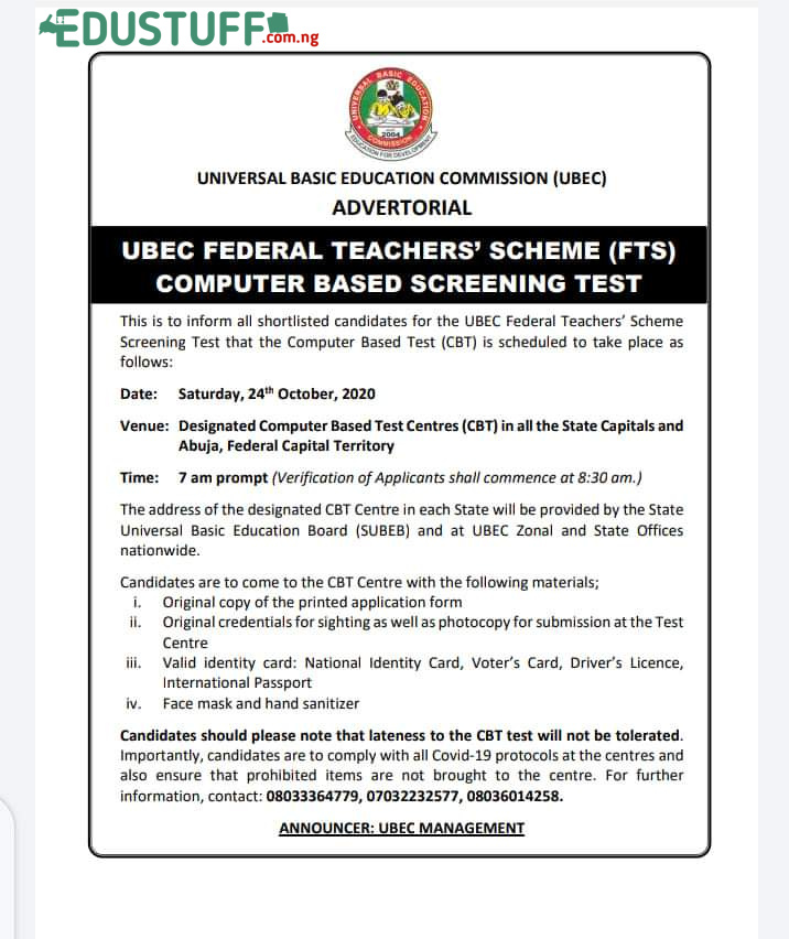 Ubec Examination date, https://fts.admissions.cloud/home