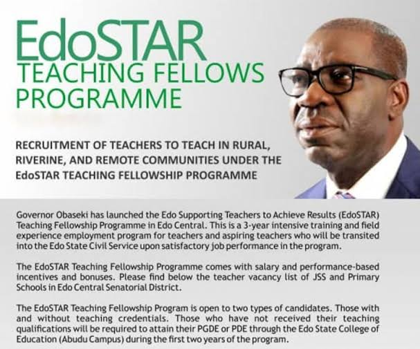 EdoSTAR | Edo State Teachers Recruitment Exam Past Questions and Answers PDF 2020