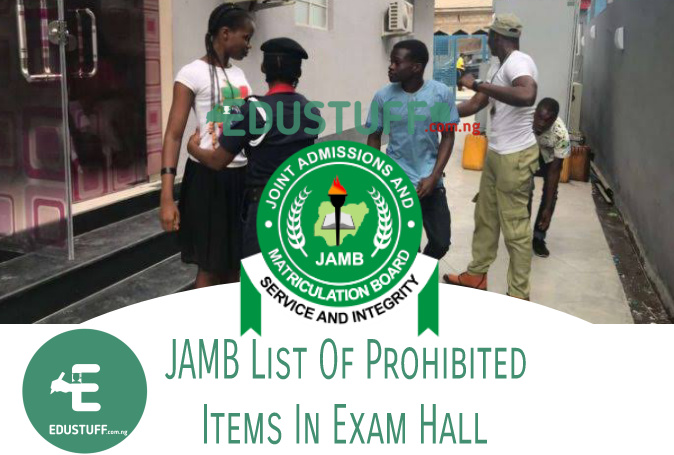 List of JAMB prohibited items