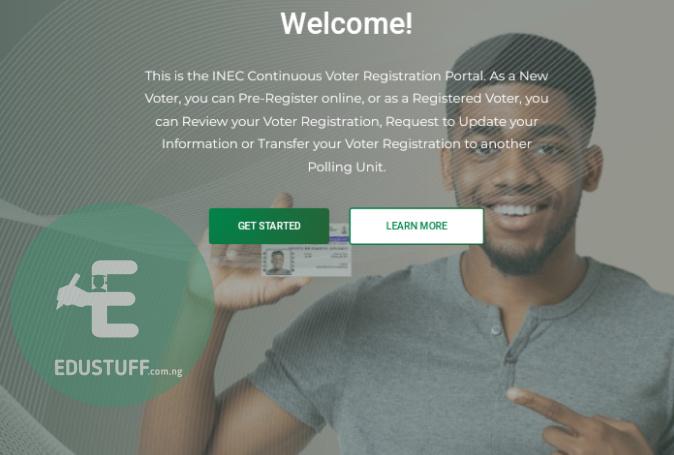 INEC voter registration portal