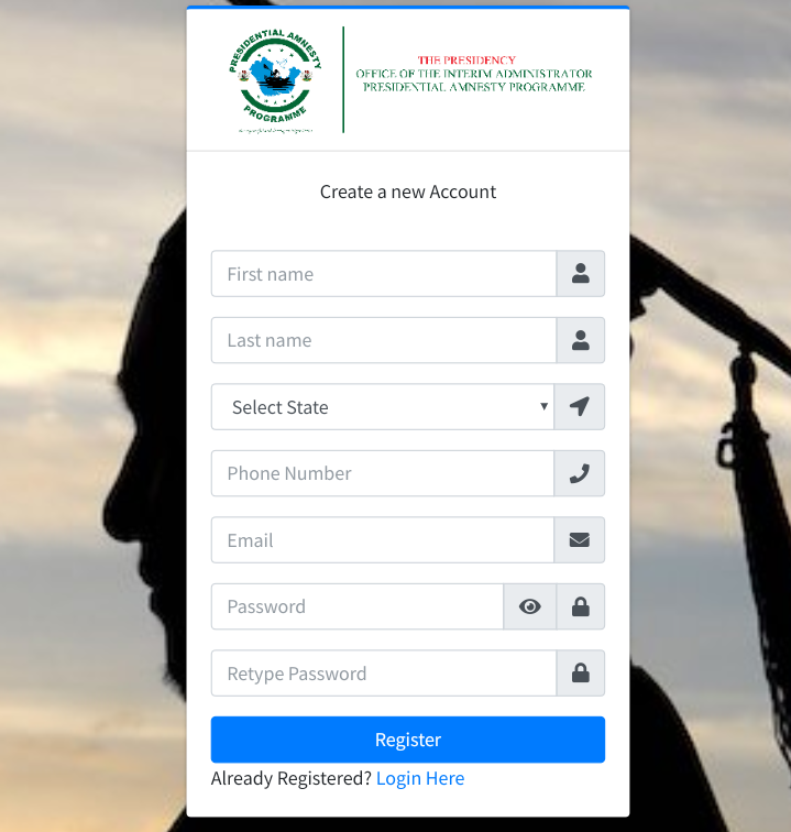 Presidential Amnesty Programme Scholarship portal
